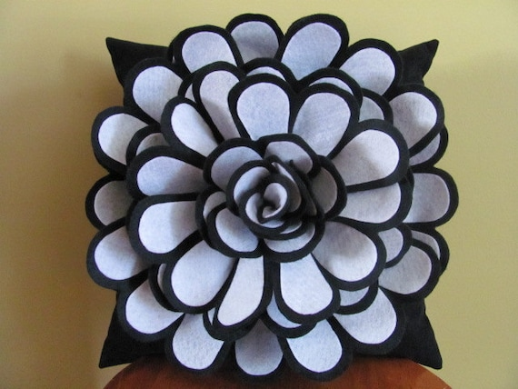 Felt Flower Pillow Pattern DAISY ROSE Felt Flower Throw Pillow Cover Pattern with 2 Bonus Pillow Covers Tutorial Pattern PDF ePattern How To