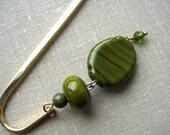 Olive green bookmark
