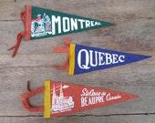 1950s Canadian Souvenir Pennants  - You Choose