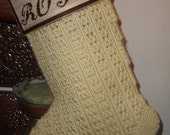 Personalized Christmas Stocking-vintage look