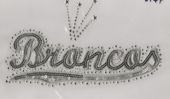 Broncos Sequins and Rhinestone Transfer Applique ONLY