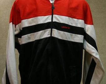 Vintage 80s ADIDAS Trefoil Track Jacket Coat
