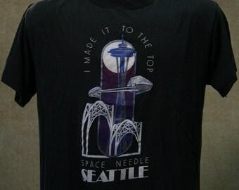 Vintage 80s SEATTLE SPACE NEEDLE T Shirt Large