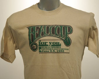 Vintage 80s BEAUCOUP Founders Day Festival T Shirt