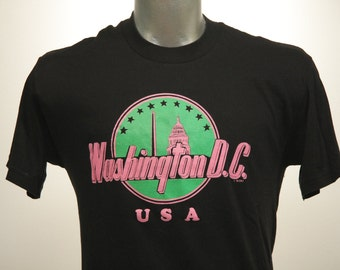 Vintage 80s WASHINGTON DC Capital T Shirt Large
