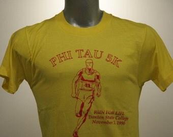 Vintage 90s TRENTON STATE COLLEGE Running T Shirt Medium