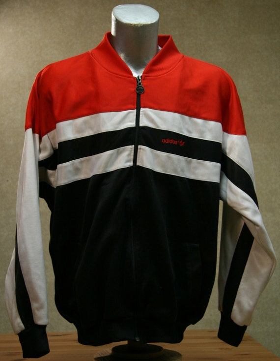 vintage 80s adidas trefoil track jacket coat. Black Bedroom Furniture Sets. Home Design Ideas
