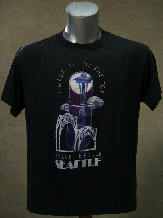 Vintage 80s SEATTLE SPACE NEEDLE T Shirt Large