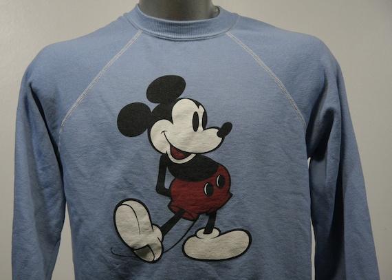 Vintage 80s MICKEY MOUSE Disney World Blue Sweatshirt Large