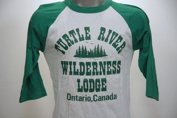 Vintage 90s ONTARIO CANADA Turtle River Raglan T Shirt Large