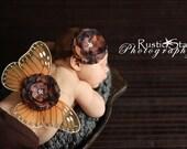 Newborn Butterfly Wings, Monarch, Matching Headband, Ready To Ship, Photo Prop