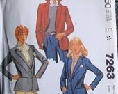 OOP McCall's Womens Sewing Pattern 7263 size 12 Part cut