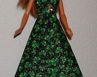 Handmade Long Dress for Barbie Doll  With hat  Number 3