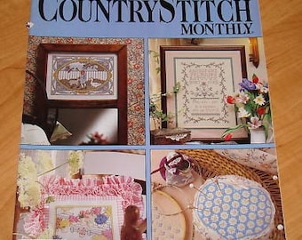 OOP Country Stitch Monthly Cross Stitch Magazine MAR /1989