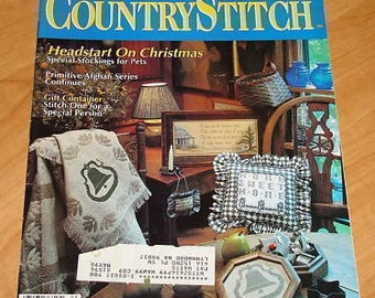 OOP Country Stitch  Cross Stitch Magazine  SEPT/OCT 1989