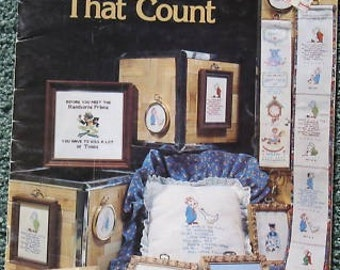 "Cross Stitch Pattern Booklet  ""Designs That Count "" Used"