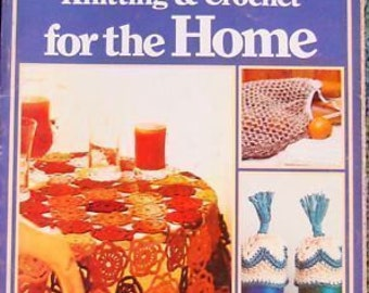 Vintage Knitting & Crochet Patterns For The Home 1975