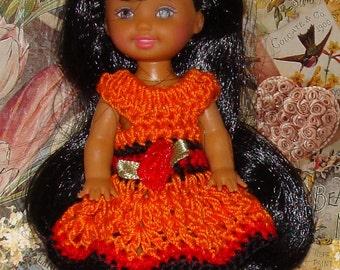 Handmade Crochet Dress For Kelly Barbie number  716