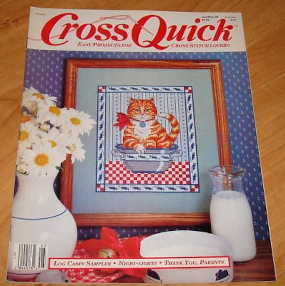 OOP Cross Quick Cross Stitch Magazine APR/MAY 1989