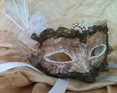 Lady Camelot  / Venetian Vintage Style Mask
