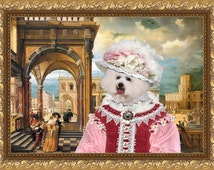 Bichon Frise Art - CANVAS  Print - Fine Artwork - Dog Portrait -  Dog Painting - Dog Art - Dog Print – Custom Dog Art By Nobility Dogs