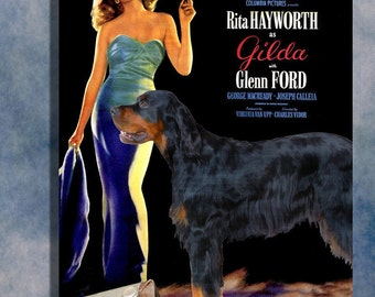 Gordon Setter Vintage Movie Style Poster Canvas Print  - Gilda NEW Collection by Nobility Dogs