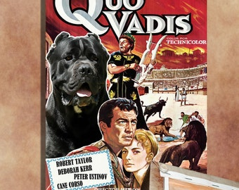 Cane Corso Vintage Movie Style Poster Canvas Print  NEW Collection by Nobility Dogs