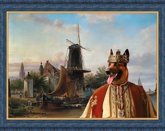 Belgian Malinois Art - CANVAS  Print - Fine Artwork - Dog Portrait -  Dog Painting - Dog Art - Dog Print – Custom Dog Art By Nobility Dogs
