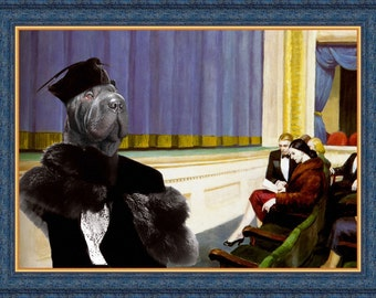 Shar Pei Art CANVAS Print Fine Artwork of Nobility Dogs Dog Portrait Dog Painting Dog Art Dog Print