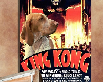 Bracco Italiano Vintage Movie Style Poster Canvas Print  NEW Collection by Nobility Dogs