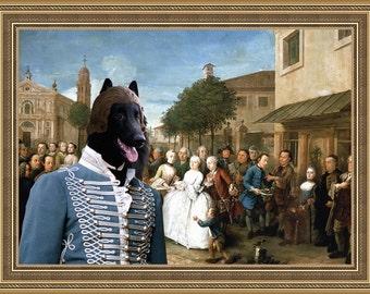 Groenendael/Belgian Shepherd/Belgian Sheepdog Art CANVAS Print/Dog Portrait/Dog Painting/Dog Art/Dog Print/Custom Dog Art By Nobility Dogs