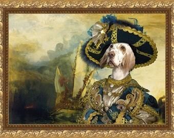 English Setter Dog Art CANVAS Print Fine Artwork of Nobility Dogs Dog Portrait Dog Painting Dog Art Dog Print