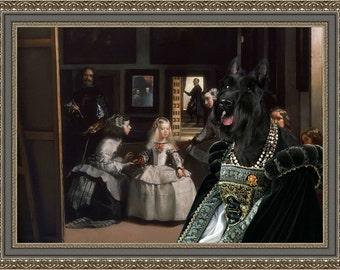 Scottish Terrier Art CANVAS Print Fine Artwork of Nobility Dogs Dog Portrait Dog Painting Dog Art Dog Print