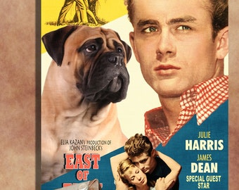 Bullmastiff Vintage Movie Style Poster Canvas Print  NEW Collection by Nobility Dogs