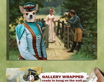 Chihuahua Art/Chihuahua Canvas Print/Fine Artwork/Dog Portrait/Dog Painting/Dog Art/Dog Print/Custom Dog Art By Nobility Dogs