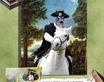 Schnauzer Art CANVAS Print Fine Artwork of Nobility Dogs Dog Portrait Dog Painting Dog Art Dog Print