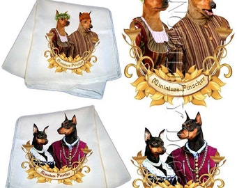 SALE - 40% OFF Miniature Pinscher Silk Scarf Gifts For Dog Lover by Nobility Dogs