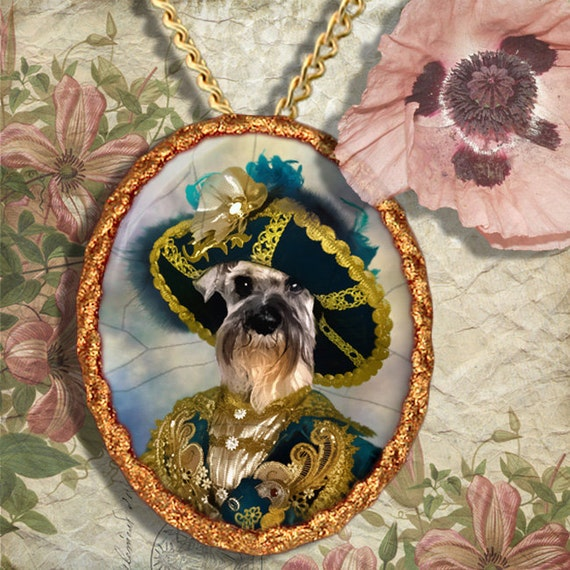 Miniature Schnauzer Jewelry - Pendant - Brooch – Necklace – Dog Jewelry – Dog Pendant – Dog Brooch – Dog Custom Jewelry By Nobility Dogs