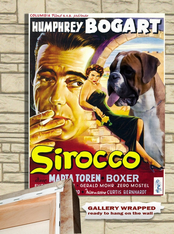 Boxer Vintage Movie Style Poster Canvas Print  NEW Collection by Nobility Dogs