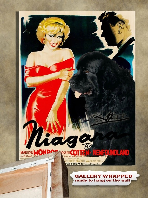 Newfoundland Vintage Movie Style Poster Canvas Print  NEW Collection by Nobility Dogs