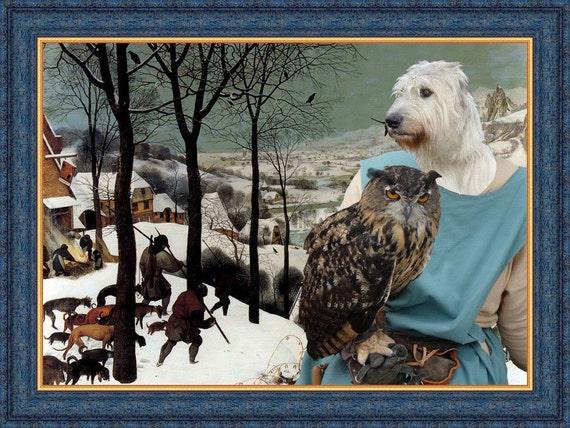 Irish Wolfhound ART Print/Irish Wolfhound Portrait/CANVAS Print/Dog Painting/Dog Art Print/Custom Dog Art - Portrait By Nobility Dogs
