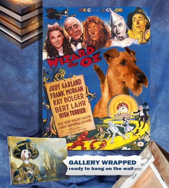 Irish Terrier Vintage Canvas Print - The Wizard of Oz Movie Poster by Nobility Dogs