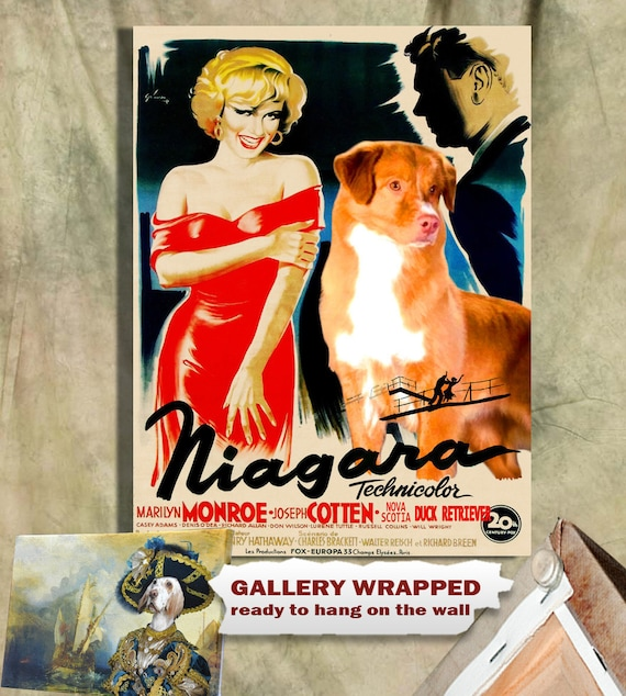 Nova Scotia Duck Tolling Retriever Print Fine Art Canvas - Niagara Movie Poster NEW COLLECTION by Nobility Dogs