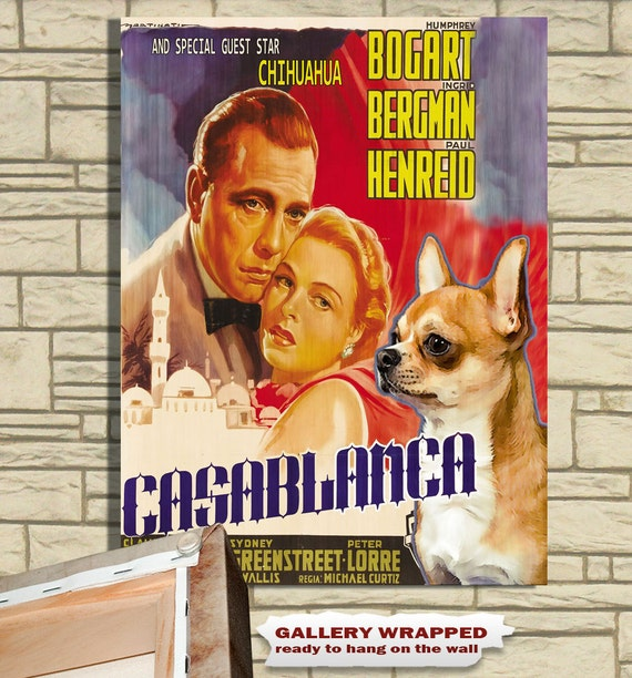 Chihuahua Vintage Movie Style Poster Canvas Print NEW