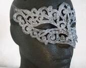 Silver Swirls Embroidered Mask