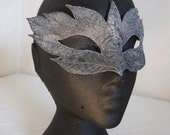 Silver Leaves Embroidered Mask