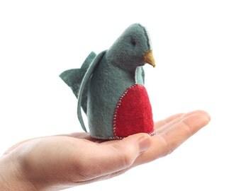 Blue bird kit, felt bird kit, sewing kit, felt kit, DIY sewing kit, crafts for kids, beginner sewing kit, bird ornament kit, hand sewing kit