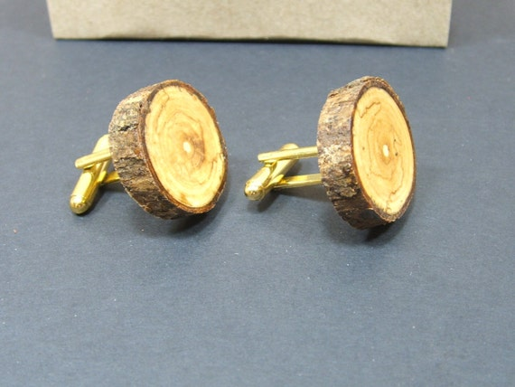 Handmade Lilac Cuff Links Gift Boxed. Organic, Eco Friendly Natural Wood Cufflinks.