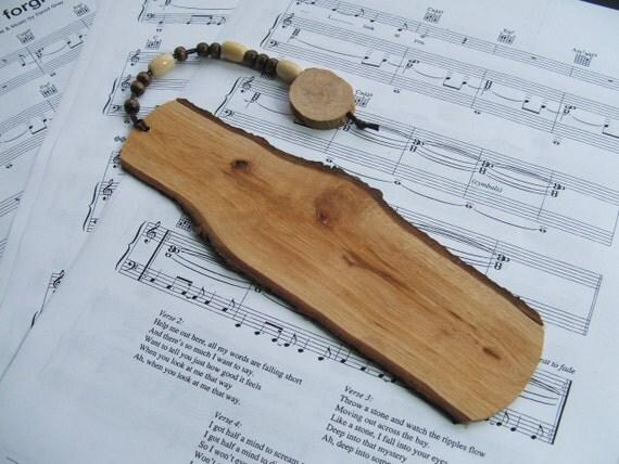 Handcrafted Rustic Oak Wood Bookmark