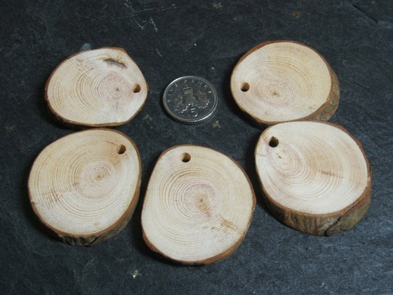 Scots Pine Pendant Blanks small for pyrography, drawing and painting on